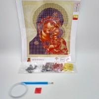 Алмазная мозаика  7514-3-10  20*25см  Петровская Икона Божьей Матери