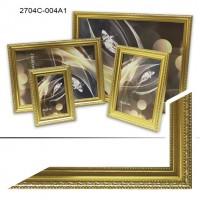 Рамка пластик А6 10*15(2704-004)золото(40)