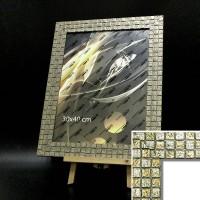 Рамка пластик30*45 (4710-195)сереб КЛЕТКА(10) 45мм