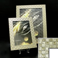 Рамка пластик30*45 (4710-150)золото КЛЕТКА(10) 45мм