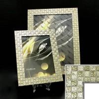 Рамка пластик40*50 (4710-150)золото КЛЕТКА(10) 45мм