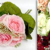 Букет Роз из 5шт. 30см (0184-SZYHM-1) 2 цвета Бутон 8 см