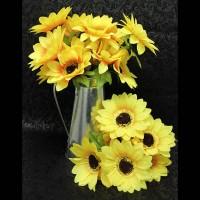 Букет искус. цветов  ПОДСОЛНУХ   0013-2  40 см  бутон 10 см