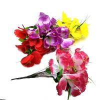 Букет искус. цветов   0013-4   40 см  Бутон  10 см   4 цвета