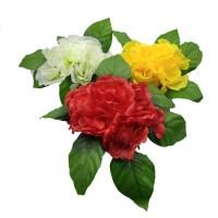 Букет искус. цветов  0013-6  на подставке Д-30 см  3 цвета