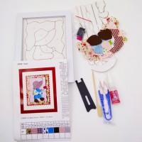 Набор д/творчества R050 13*18 ДЕВОЧКА(плакетка+ткань,пинцет+ножницы)