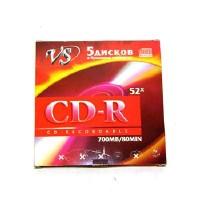 ДИСК VS  CD-R 52x  конверт (5/250)