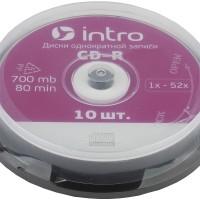 ДИСК INTRO CD-RW 700mb 4х-12x Cakeboxl(10)