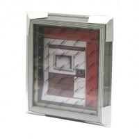 3D+LED Ф/рамка  ОБЪЕМНАЯ(7012-264)серый12,5*17,5мм