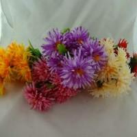 Букет искус. цветов  ХРИЗАНТЕМЫ  0540-1  40 см  Бутон  9 см   4 цвета