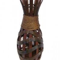 Ваза декоративная плетеная дерево 44см(1/24) A-114929
