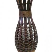Ваза декоративная плетеная дерево 60см(1/24) A-115228