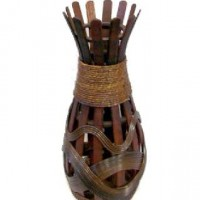 Ваза декоративная плетеная дерево 60см(1/24) A-114830