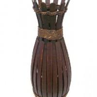 Ваза декоративная плетеная дерево 60см(1/24) A-114526