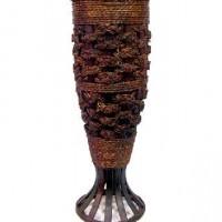 Ваза декоративная плетеная дерево 70см(1/12) B07131