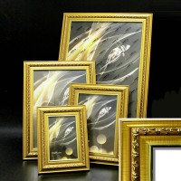 Рамка пластик А5 15*21(4210-139)золото42мм