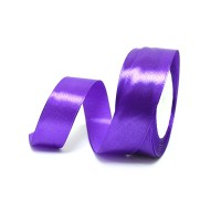 Лента атласная шир 1.2см, дл.25ярд41306-225 фиолетовый(1/10)