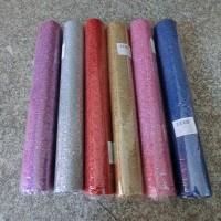 Рулон упаковочного материала для цветов   КРУЖЕВО с блестками  0,5м х 4,5 м 787  6 цветов