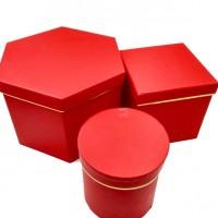 Набор коробок подар из 3шт картон15*20*20cm 6671-1R(24)