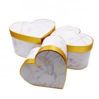 Набор коробок подар из 3шт картон Сердце26*26*15cm 10412-XBW(18)