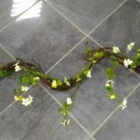 Лиана Коряжка с мхом и цветами 1 м   0228-3