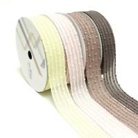 Упаковочная тесьма  Текстиль   шир 3 см, дл.50 м 2357-12  6 цветов