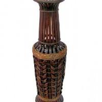 Ваза декоративная плетеная дерево 80см(1/12) KW1508