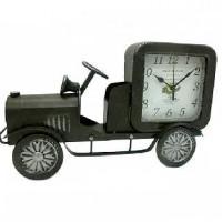 Часы настольные металл АВТОМОБИЛЬ РЕТРО 37*22см, циферблат 11*11 см.