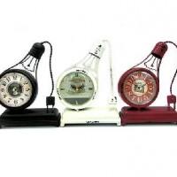 Часы настольные металл ЛАМПА РЕТРО24*18см, D 10см.