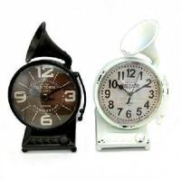 Часы настольные металл ГРАММОФОН 27*17см, D 15см.