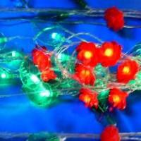 Гирлянда декоративная ЦВЕТЫ 28 светодиодных ламп(60)от сети220В