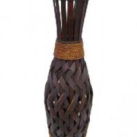 Ваза декоративная плетеная дерево 58см(15)   14004