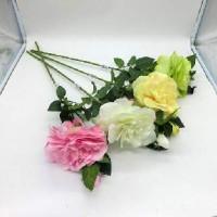 Цветок искусственный 0 420-2  Розы 80 см Бутон 16 см   6цветов