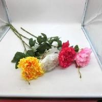 Цветок искусственный 0 420-3 пионы одиночные 70 см  Бутон 17 см  5 цветов