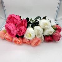 Букет искус. цветов 0 420-5 Пионы высокие  45 см  Бутон 12 см 4 цвета