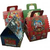 Коробка подарочная  Новогодняя  16х21х14 см / картон  4 вида  9007