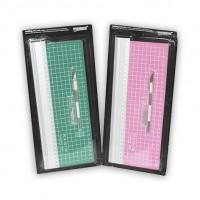 МАТ  для резки  формата  30*10см + нож макетный с набором лезвий  988