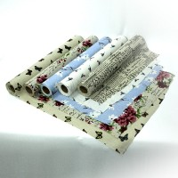 "Рулон упаковочного материала для цветов   ""Лен""  шир 60 см, дл.4,5 м 0785-6"