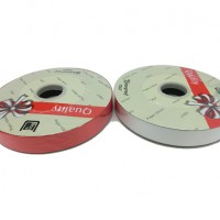 "Упаковочная тесьма  ""PVC""  шир 1,8 см, дл.100 м 22760-1крас/белый"