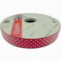 """Упаковочная тесьма  """"PVC""""  шир 1,8 см, дл.100 м ГОРОХ красн22760-12"""