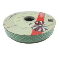 """Упаковочная тесьма  """"PVC""""  шир 1,8 см, дл.100 м ГОРОХ зелен22760-14"""