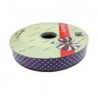 """Упаковочная тесьма  """"PVC""""  шир 1,8 см, дл.100 м ГОРОХ фиол22760-16"""