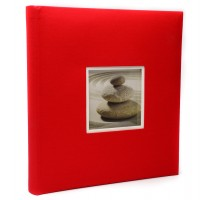 Фотоальбомы Fotografia 10x15 см., 400 фото, FA-EBBM400-851 классика  красный
