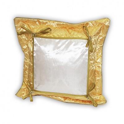 """Подушка золотая  стеганная """"Думка""""38*38 квадрат"""