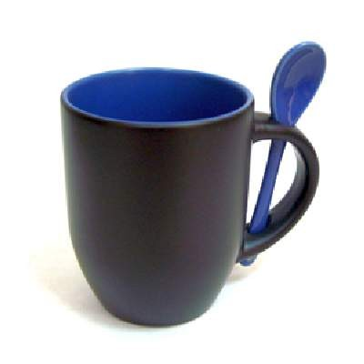 Кружка хамелеон черная/внутри  синяя без ложки (НЕ КОМПЛЕКТ) (36)XT-MXP05F