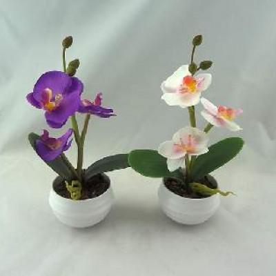"""Цветочная композиция со светодиодами""""Орхидеи 3цветка""""0432-1 (48)"""