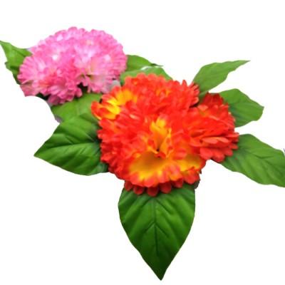 Букет искус. цветов  0013-7  на подставке Диаметр-30 см   высота-20 см  3 цвета