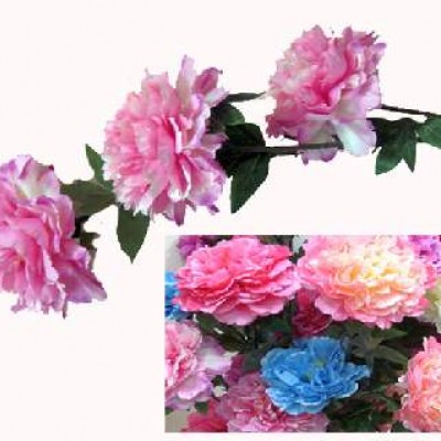 Букет  искус.цветов   1м Пионы 3 шт  0420-4 Бутон  20см
